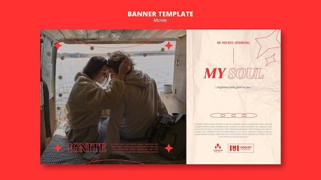 Nowy szablon transparentu poziomego filmu