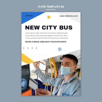 Nowy szablon ulotki autobusu miejskiego