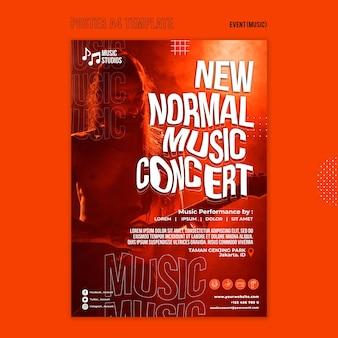 Nowy szablon wydruku normalnego koncertu muzycznego
