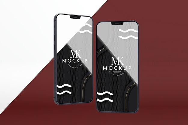 Nowy zestaw telefonów z widokiem z przodu