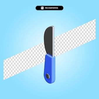 Nóż 3d render ilustracja na białym tle