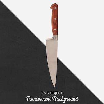 Nóż drewniany uchwyt na przezroczystym tle