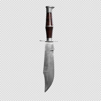 Nóż na białym tle