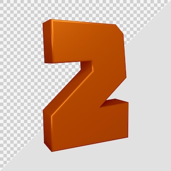 Numer 2 w renderowaniu 3d