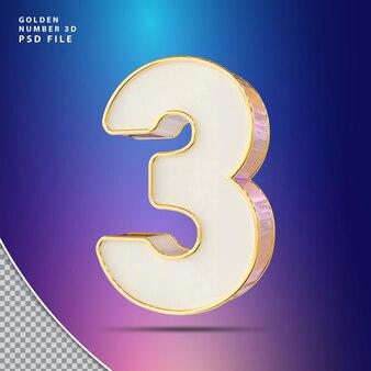 Numer 3 luksus renderowania 3d