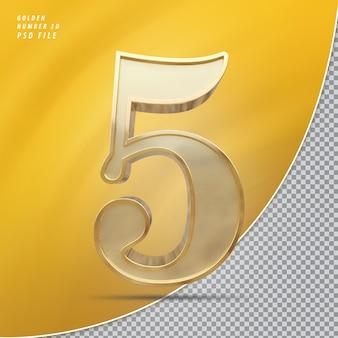 Numer 5 złoto