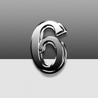 Numer 6 efekt tekstowy