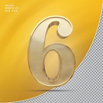 Numer 6 złoto