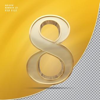 Numer 8 złoto