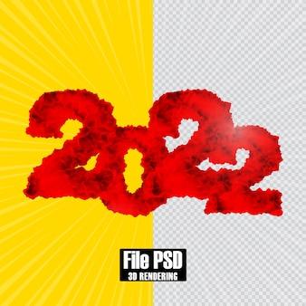 Numer tekstu 2022 renderowanie 3d