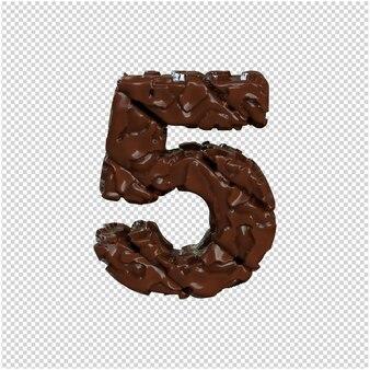 Numer z czekolady. 3d numer 5
