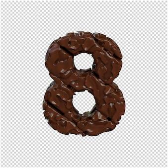 Numer z czekolady. 3d numer 8