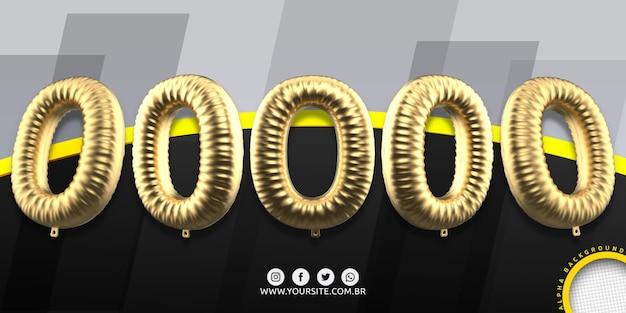Numeracja w balonach foliowych 0