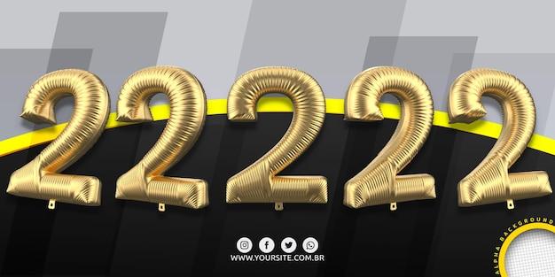 Numeracja w balonach foliowych 2