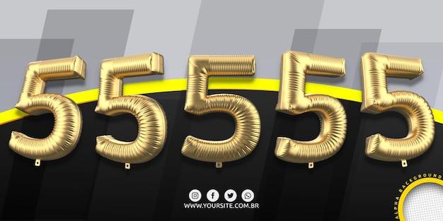Numeracja w balonach foliowych 5