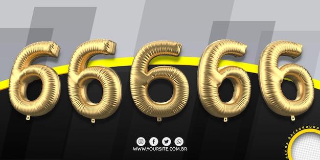 Numeracja w balonach foliowych 6
