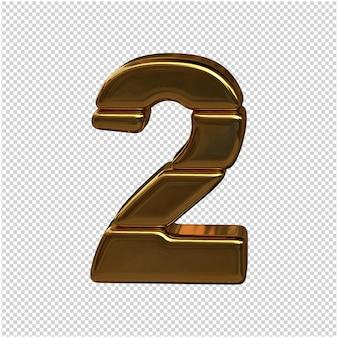 Numery sztabek złota. figura 3d 2