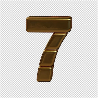 Numery sztabek złota. figura 3d 7