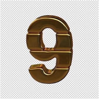 Numery sztabek złota. figura 3d 9