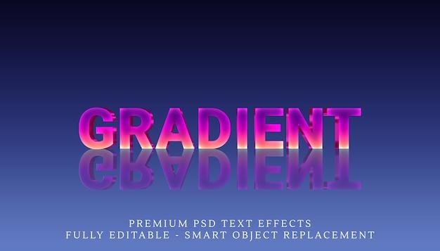 Odbity efekt stylu tekstu gradientowego