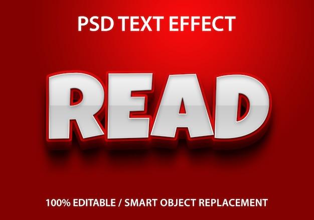 Odczyt edytowalnego efektu tekstowego