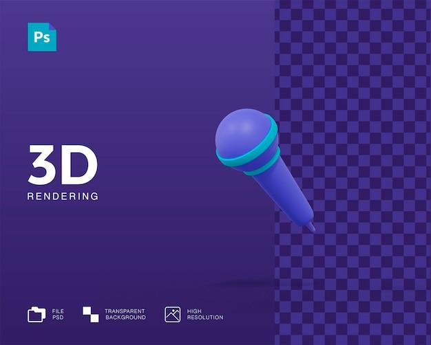 Odizolowane renderowanie mikrofonu 3d