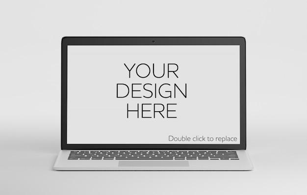 Odosobniona laptop makieta