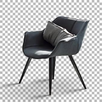 Odosobnione minimalistyczne proste krzesło z przezroczystością