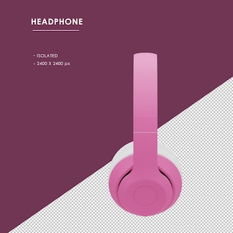 Odosobniony różowy bezprzewodowe słuchawki z prawego widoku