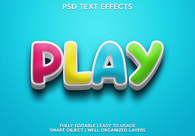 Odtwórz efekt tekstowy