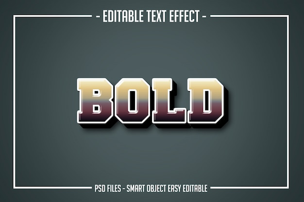 Odważny nowoczesny efekt czcionki w stylu tekstu
