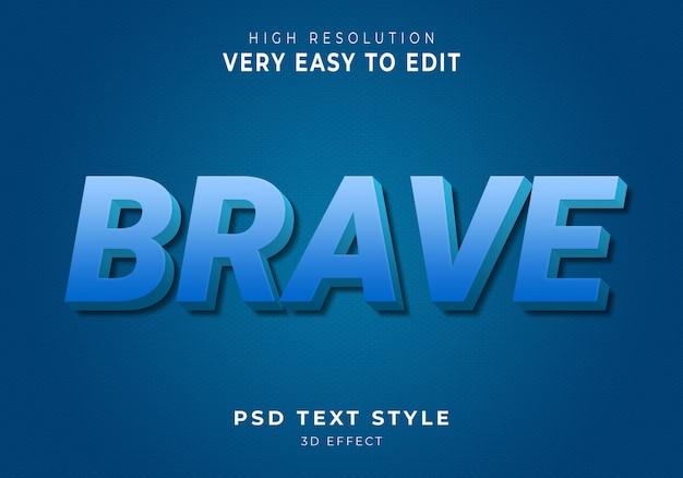 Odważny nowoczesny efekt tekstowy