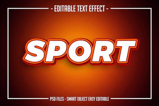 Odważny nowoczesny pomarańczowy styl tekstu edytowalny efekt czcionki