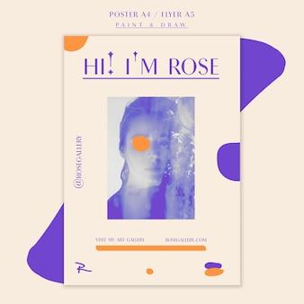 Odwiedź szablon plakatu galerii artystów