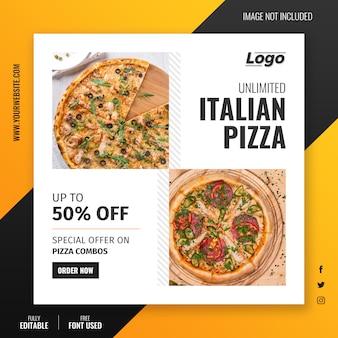 Oferta pizzy szablon postu na instagramie