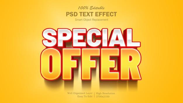 Oferta specjalna 3d photoshop edytowalny efekt tekstowy