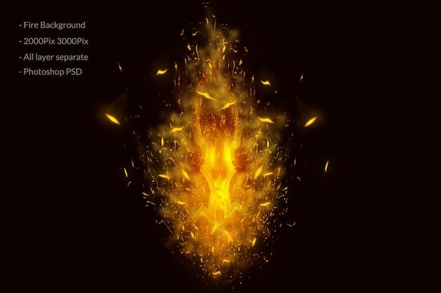 Ogień płonie tło