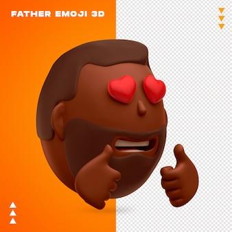 Ojciec emoji projektowania 3d