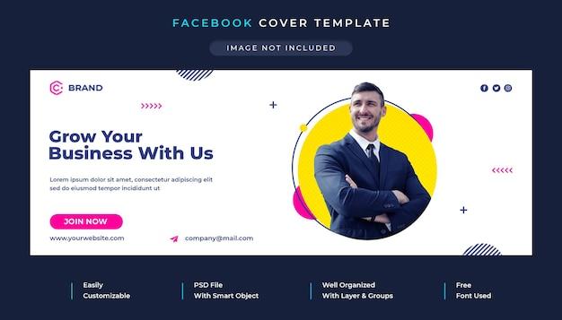 Okładka facebooka i szablon banera internetowego dla agencji korporacyjnych i kreatywnych