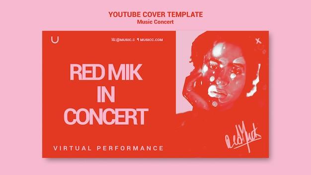 Okładka koncertu muzycznego na youtube