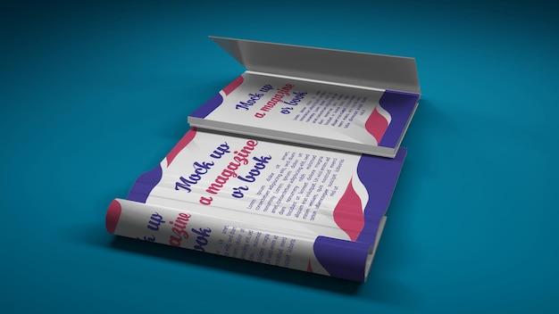 Okładka książki i makieta otwartej książki