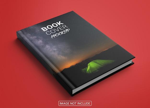 Okładka książki na czerwonym tle makieta