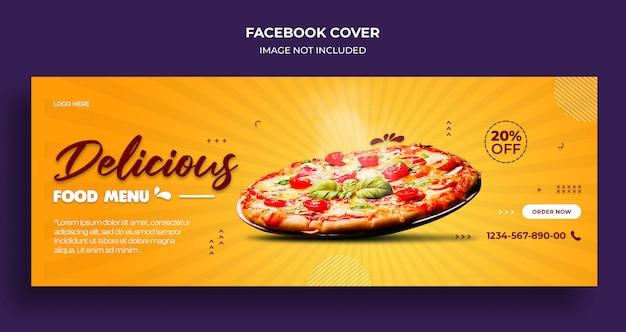 Okładka osi czasu na facebooku z pysznym jedzeniem i szablon banera internetowego