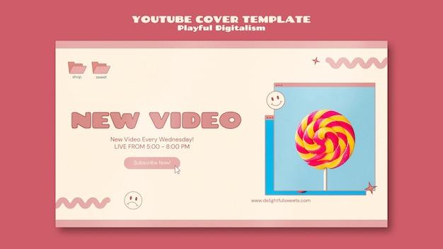 Okładka sklepu ze słodyczami na youtube