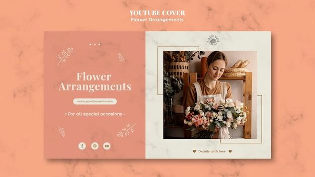 Okładka youtube do sklepu z kompozycjami kwiatowymi
