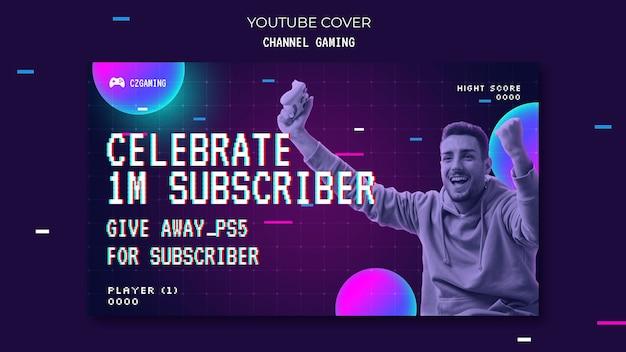 Okładka youtube do strumieniowego przesyłania gier