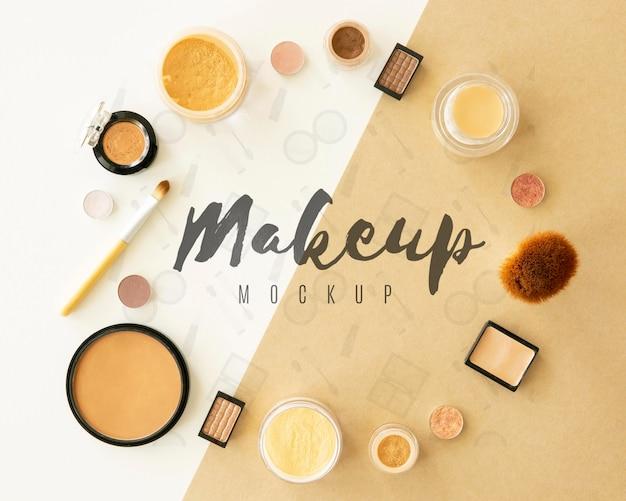 Okrągła rama produktów kosmetycznych