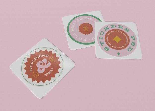 Okrągłe naklejki zestaw makiety