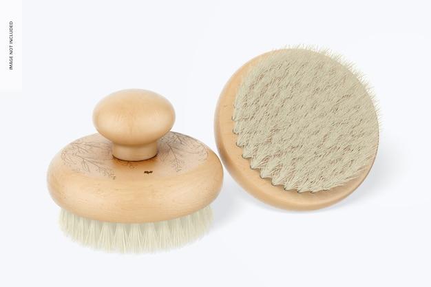 Okrągłe szczotki do masażu makieta