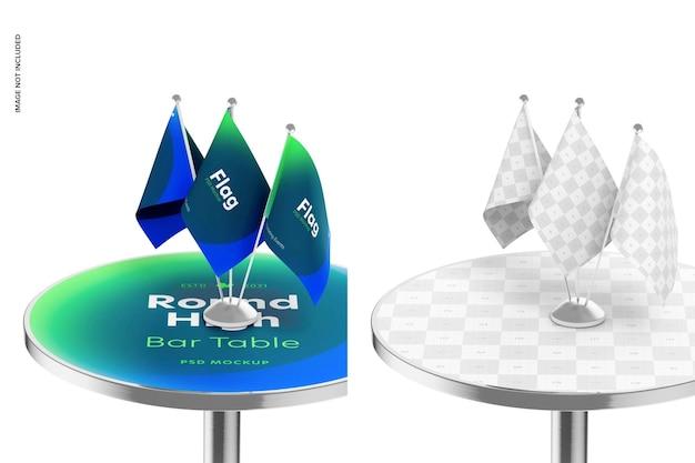Okrągły wysoki stół barowy makieta z bliska 02